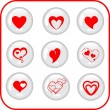 Beautiful set of valentine heart — Imagen vectorial