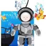Diver vector — Stock Vector #1426244