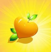 Citrus fruits. Valentine's day. — Stock Vector