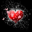 Valentines Day design black. - 