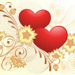 Royalty-Free Stock Immagine Vettoriale: Valentines Day gold design.