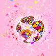 Valentine's Day multicolored - Stock Vector