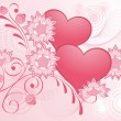 Royalty-Free Stock Vector Image: Valentines Day pink design.
