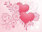 Valentijnsdag roze ontwerp. — Stockvector