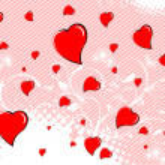 día de San Valentín fondo — Vector de stock