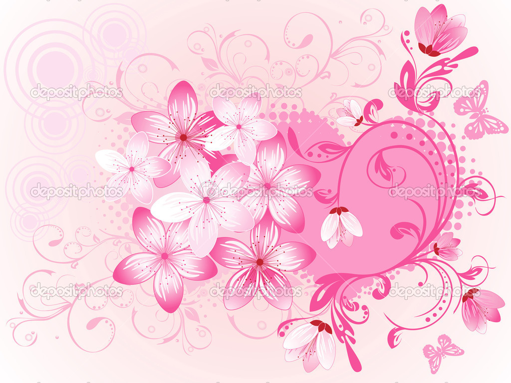 Valentine's Day. Floral background — Stock Vector #1755591
