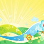 Summer flowering meadow — Stock Vector
