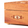 Red Wooden casket — Stock Photo