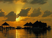 Sunset on Maldives — Stock Photo