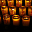 Stock Photo: Candles, Cathedral of Our Lady in Paris