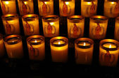 Candles, Cathedral of Our Lady in Paris — Stock Photo