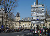 Street signs in Paris. — Stock Photo