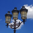 Three old-fashioned lamps — Stock Photo