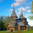 Stock Photo: Wooden church in Suzdal museum.