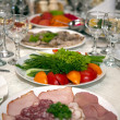 Food at banquet table — Stock Photo #1103432