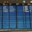 Stock Photo: Airport departures board