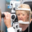 Stock Photo: Doctor, and patient in ophthalmology lab
