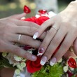 hands of newlyweds — Stock Photo #1252821