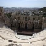 Athens Acropolis theater — Stock Photo