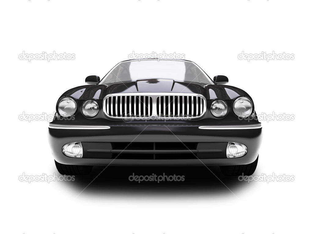 Black car on a white background — Stock Photo #1095598