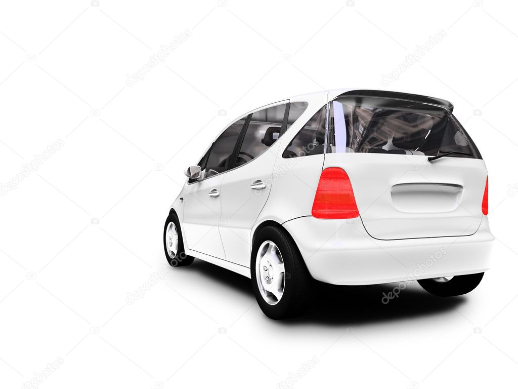 White car on a white background — Stock Photo #1134132