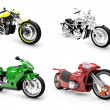 Collection of bikes isolated views - Foto Stock