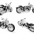 Stock Photo: Collection of bikes isolated views