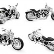 Collection of bikes isolated views — Stock Photo #1146126