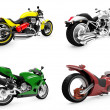 Collection of bikes isolated views — Stock Photo #1146179