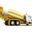 Concrete mixer isolated back view with c — Stock Photo #1147636