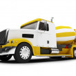 Concrete mixer isolated front view with — Stock Photo