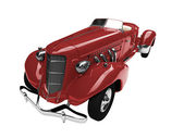 Isolated vintage red car front view — Stock Photo