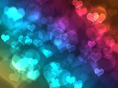 Hearts bokeh effect — Stock Photo