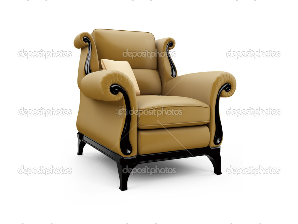 Isolated classic armchair against white background — Stock Photo #1144364
