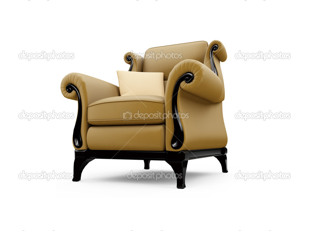 Isolated classic armchair against white background — Stock Photo #1144379