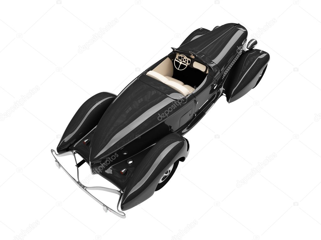 Isolated vintage black car on a white background — Stock Photo #1144839