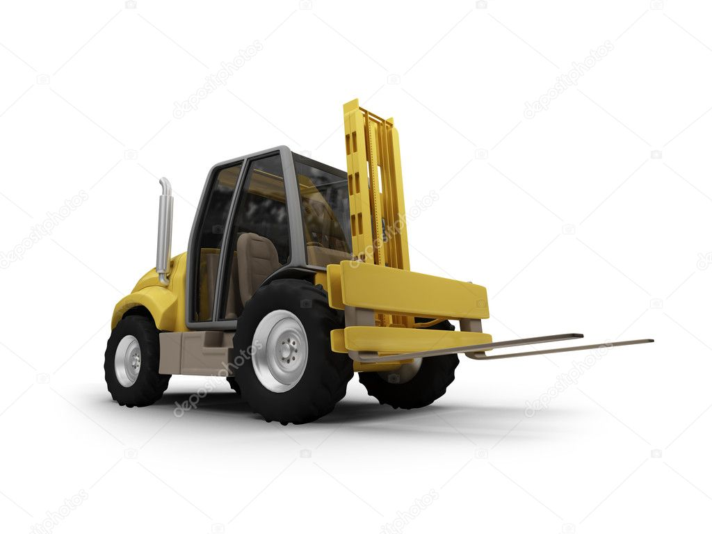 Isolated heavy fork machine on white background — Stock Photo #1145374