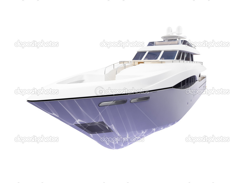 Isolated big yacht on white background — Stock Photo #1145864