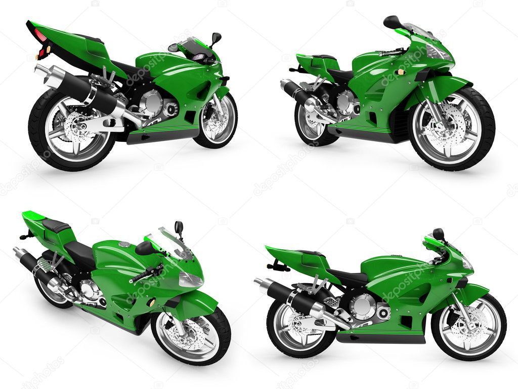 Isolated collection of bikes over white background — Stock Photo #1146097