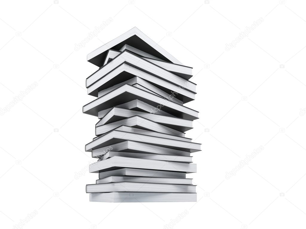 Isolated books over white background — Stock Photo #1146433