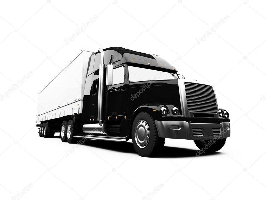 18 wheeler outline