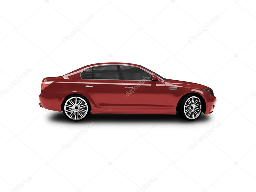 Red car on a white background — Stock Photo #1146955