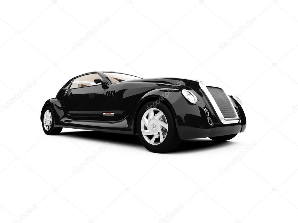 Isolated concept of retro car against white — Photo #1147617