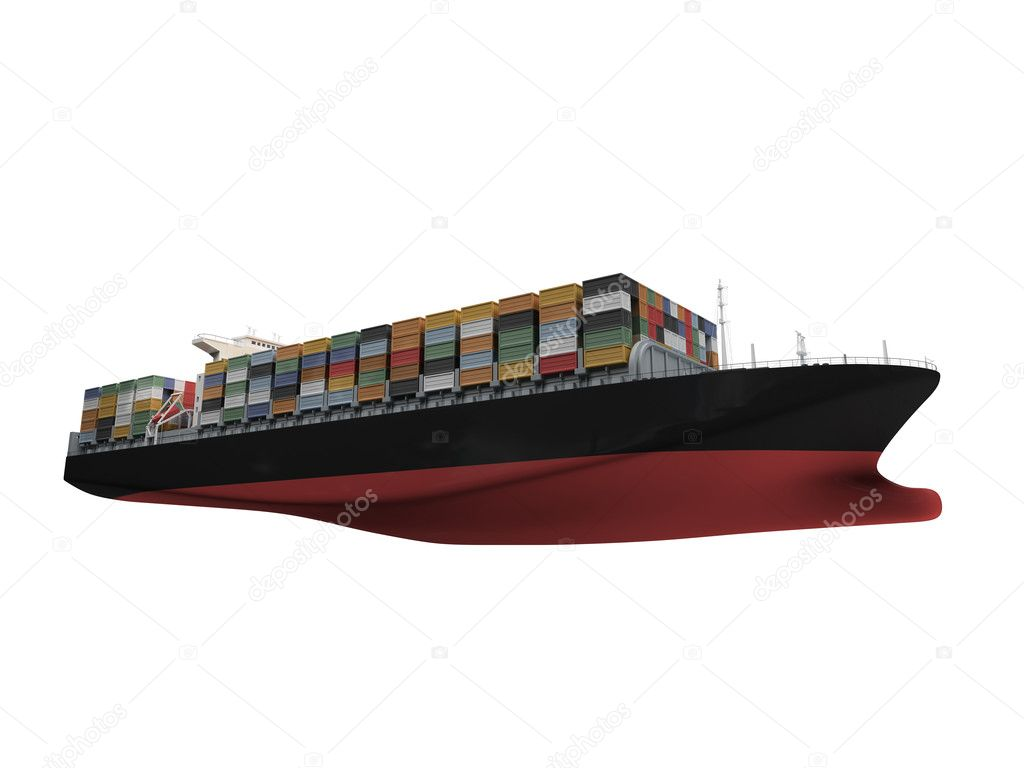 container ship isolated front view � stock photo 169 fckncg