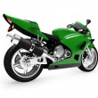 Isolated motorcycle back view 01 — Stock Photo
