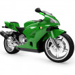 Isolated motorcycle front view 01 — Stock Photo