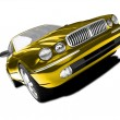 Isolated gold car front view 02 — Stock Photo