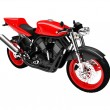 Stock Photo: Isolated motorcycle front view 01
