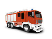 Firetruck isolated front view — Stock Photo