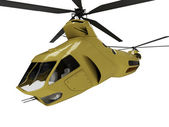 Future concept of helicopter isolated vi — Stock Photo